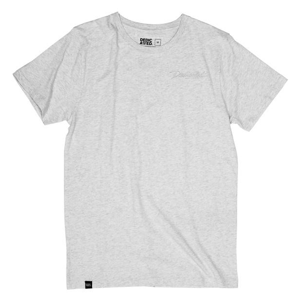 Stockholm T-shirt Script Grey Melange