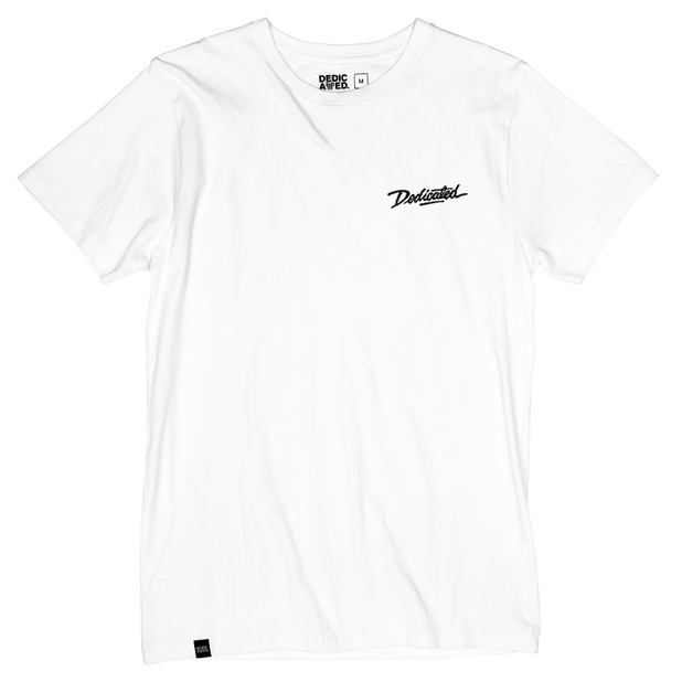 T-shirt Stockholm Dedicated Script White