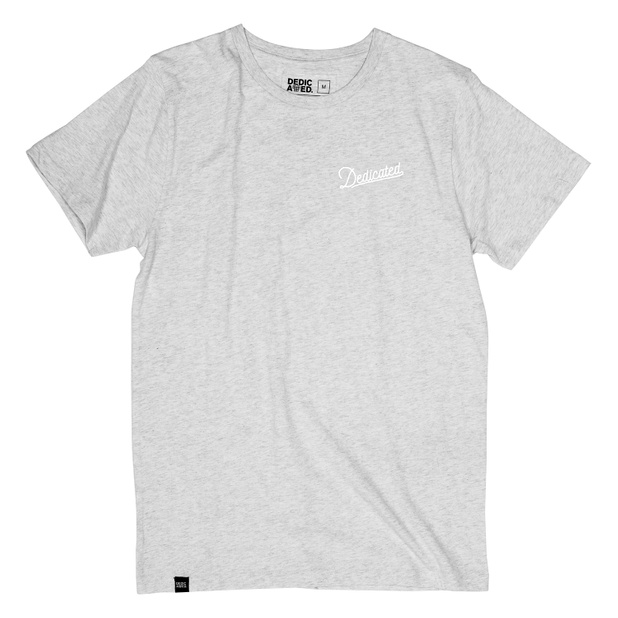 T-shirt Stockholm Mountain Script Grey Melange