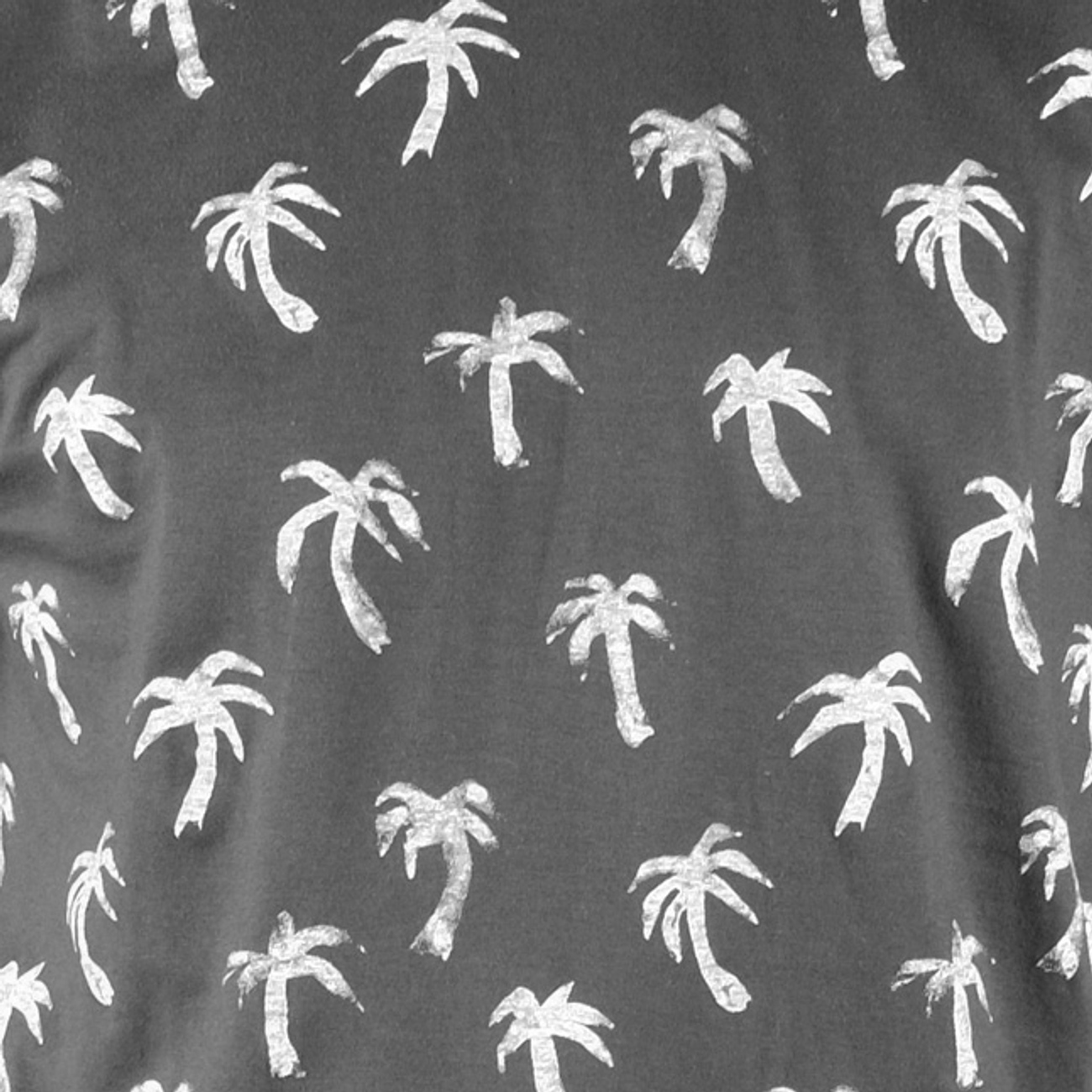 Stockholm T-shirt Painted Palms Charcoal
