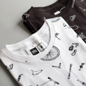 Stockholm T-shirt Bike Parts Pattern