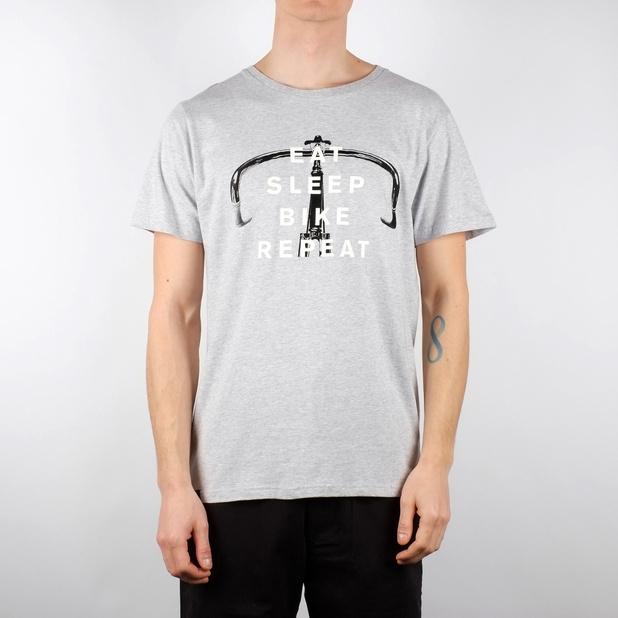 T-shirt Stockholm Bike Repeat Grey Melange