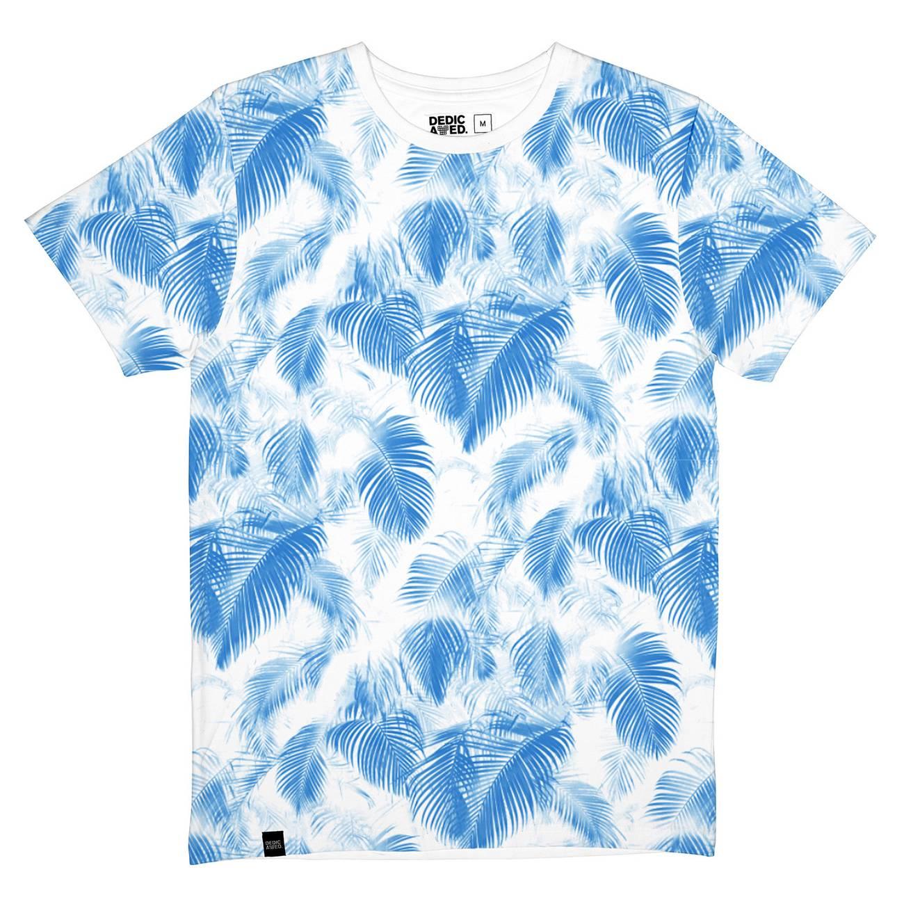 Stockholm T-shirt Blue Leaves