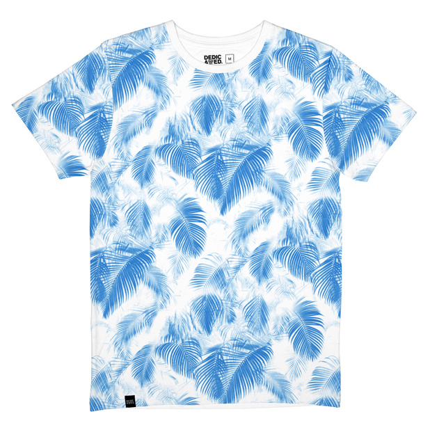 Stockholm T-shirt Blue Leaves
