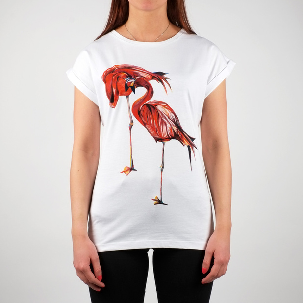 Visby T-shirt Flamingos