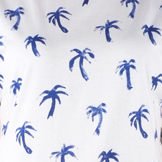 T-shirt Visby Painted Palms White