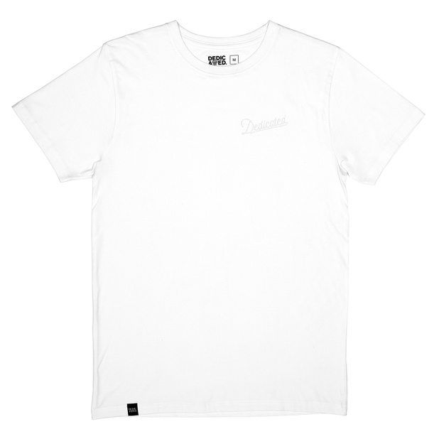 T-shirt Stockholm Mountain Script White