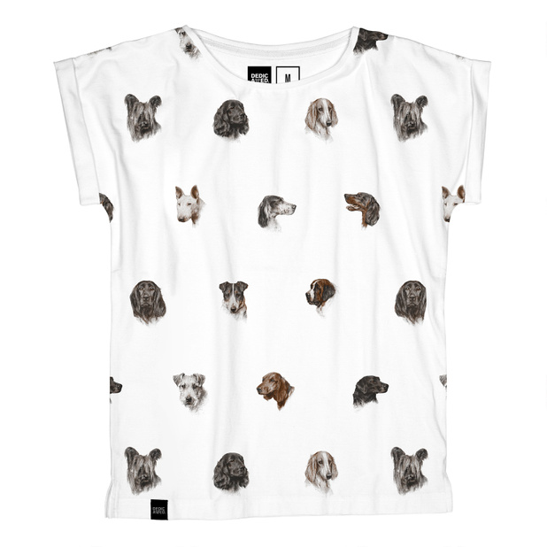 Visby T-shirt Dog Pattern