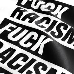 Stockholm T-shirt Fuck Racism White