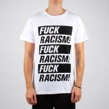 T-shirt Stockholm Fuck Racism White