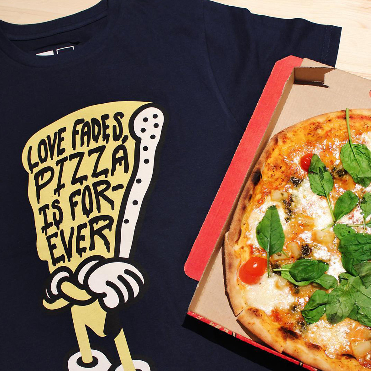 Stockholm T-shirt Pizza Love