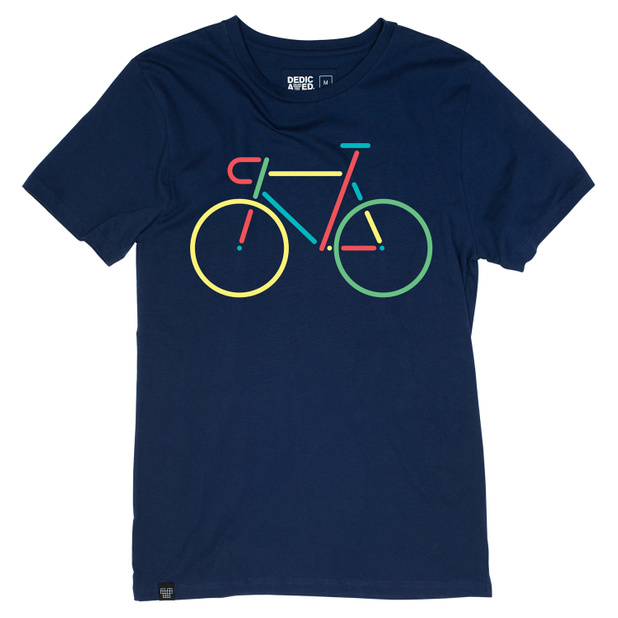 T-shirt Stockholm Color Bike Estate Blue
