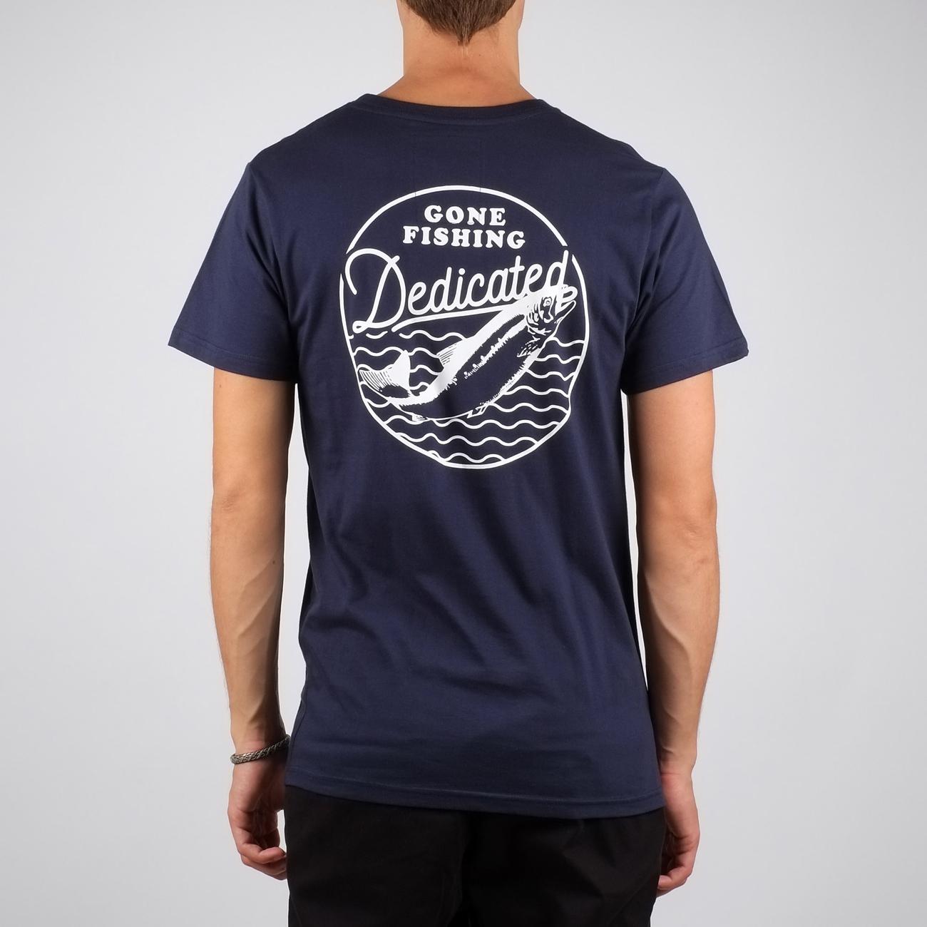 T-shirt Stockholm Gone Fishing Navy