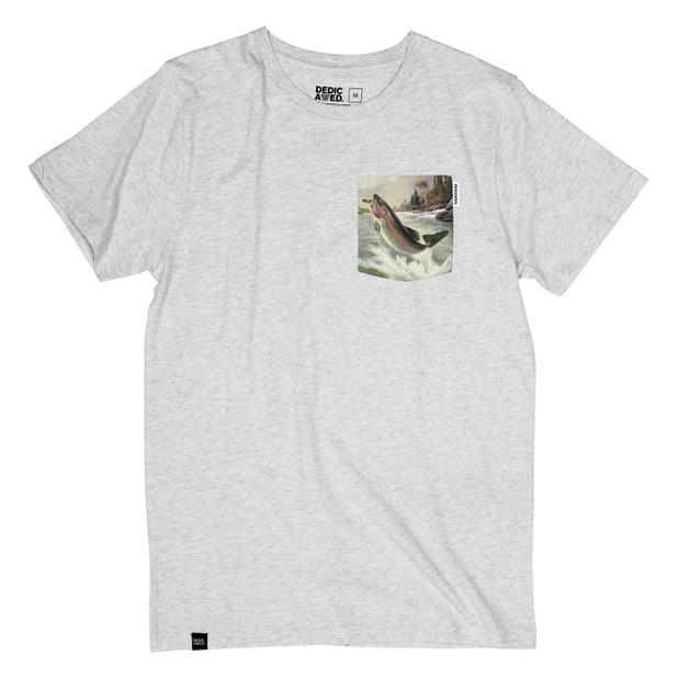 Stockholm T-shirt Pocket Salmon