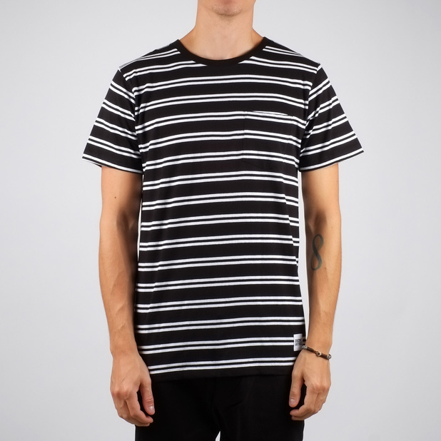 Stockholm T-shirt Double Stripe Black