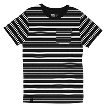 T-shirt Stockholm Double Stripe Black