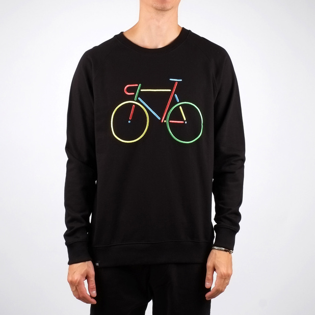 Malmoe Sweatshirt Color Bike Embroidery