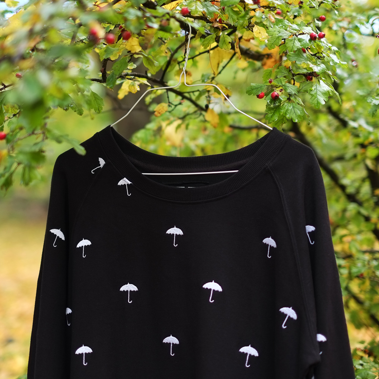 Malmoe Sweatshirt Umbrellas Embroidery