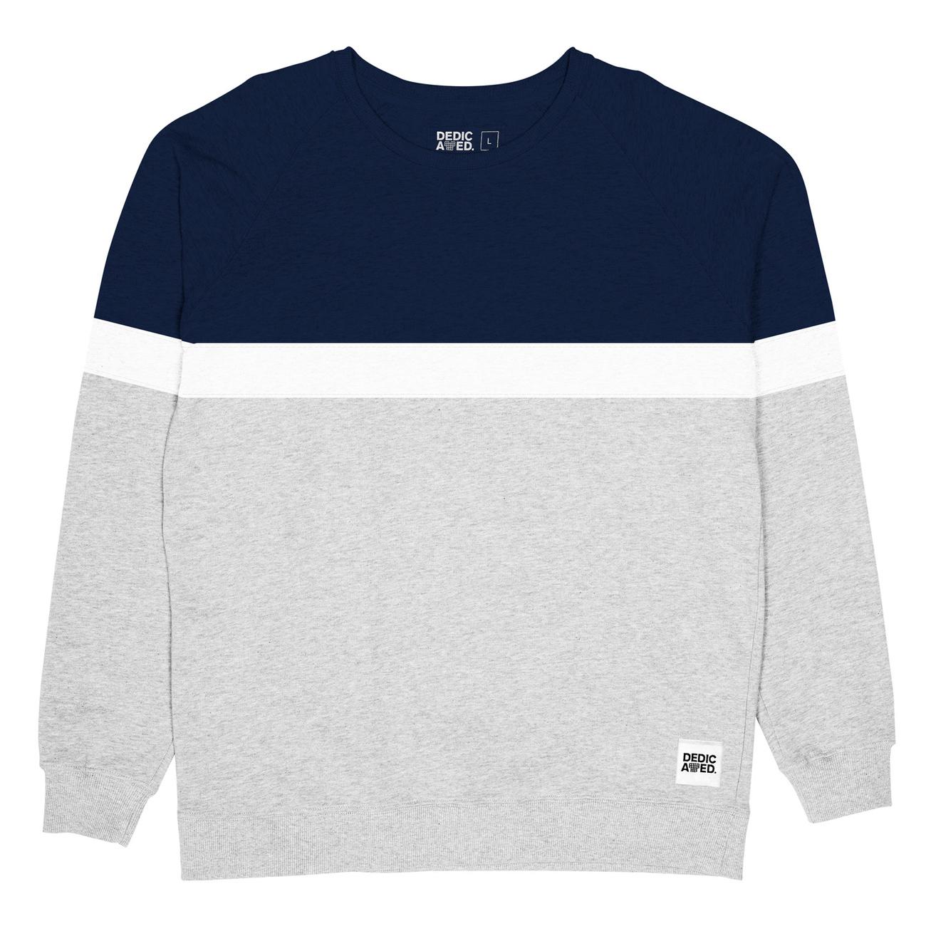 Malmoe Sweatshirt Stripe Grey Melange
