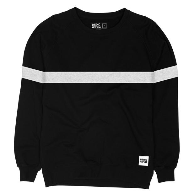 Sweatshirt Malmoe Stripe Black