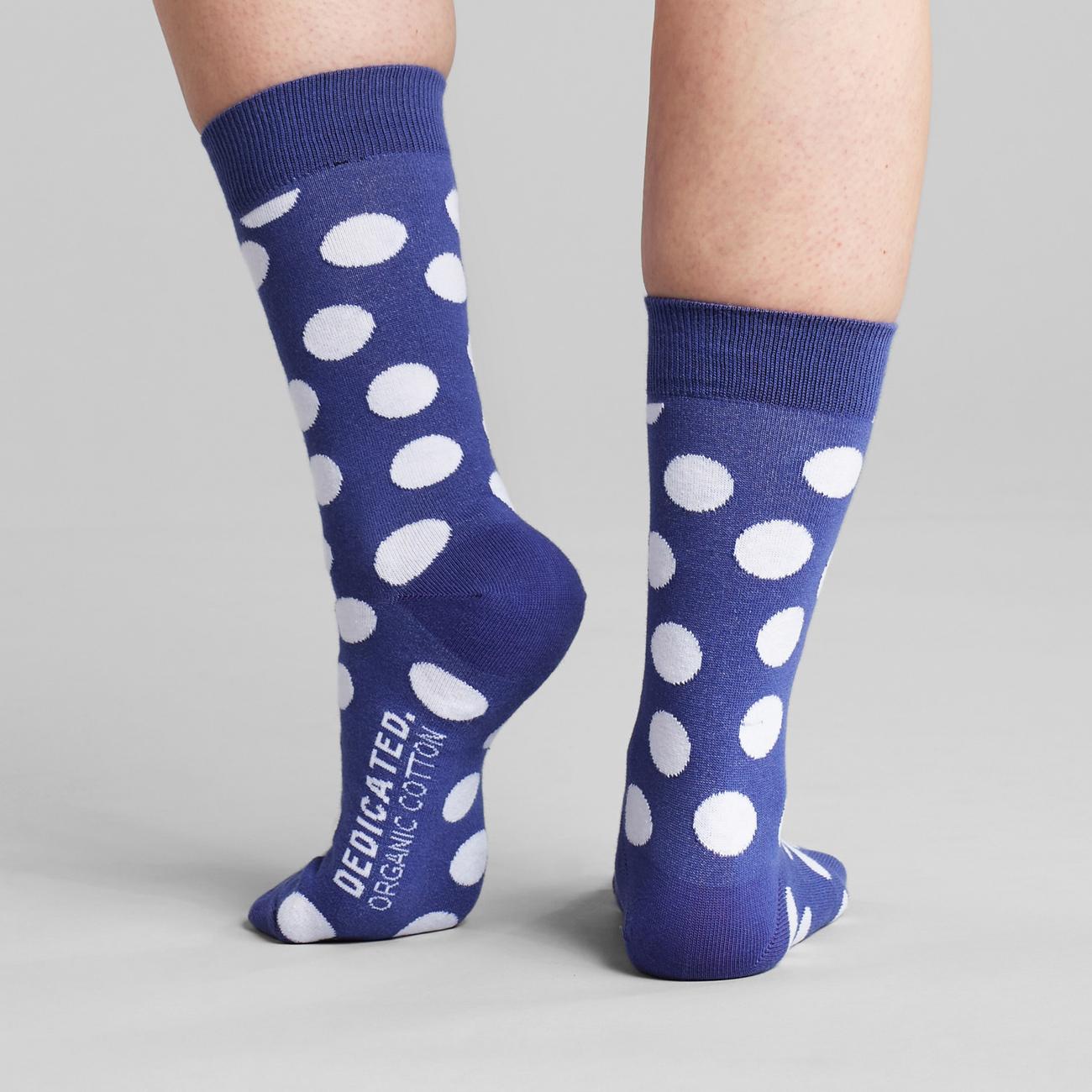 Socks Sigtuna Big Dots Blue