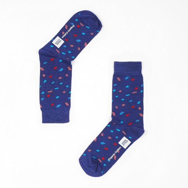 Socks Sigtuna Blue Confetti