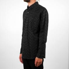Handloom Shirt Rain Black