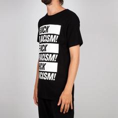 T-shirt Stockholm Fuck Racism Black