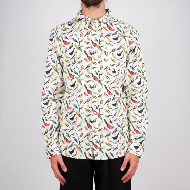 Shirt Varberg Poplin Birds