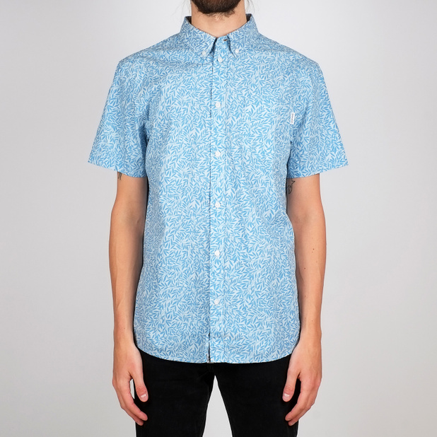 Shirt Short Sleeve Sandefjord Poplin Small Leaves
