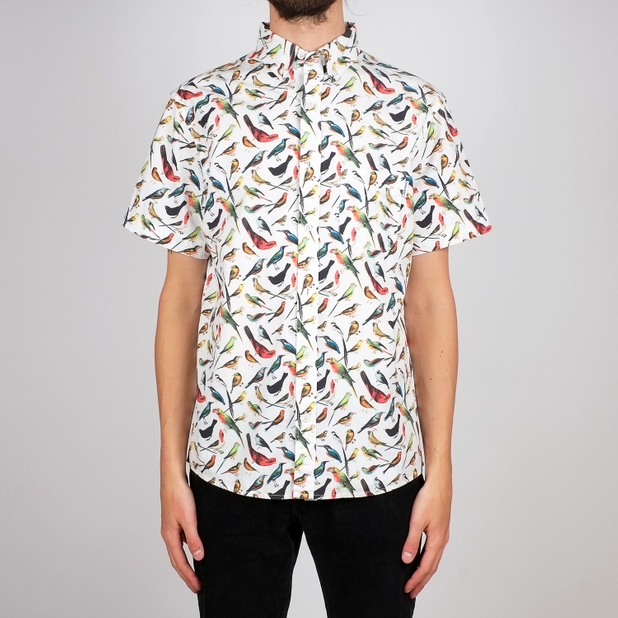 Shirt Short Sleeve Sandefjord Poplin Birds