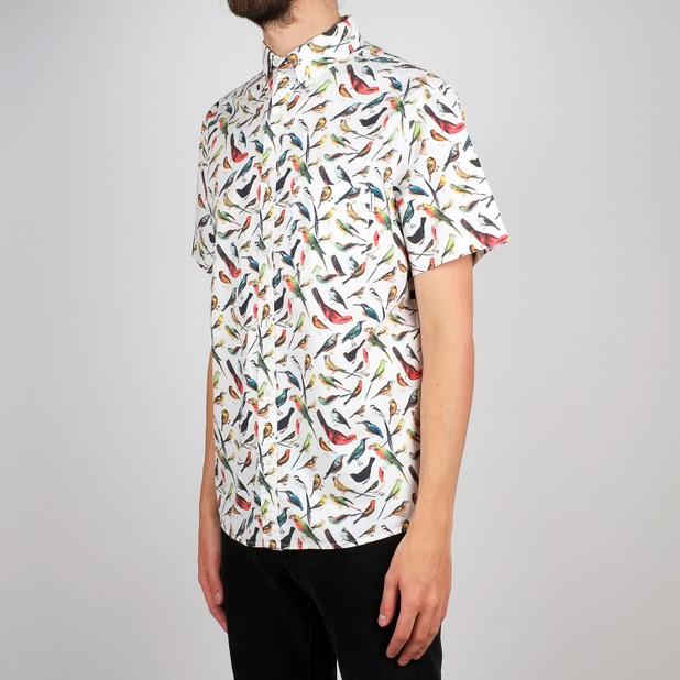 Shirt Short Sleeve Sandefjord Poplin Birds