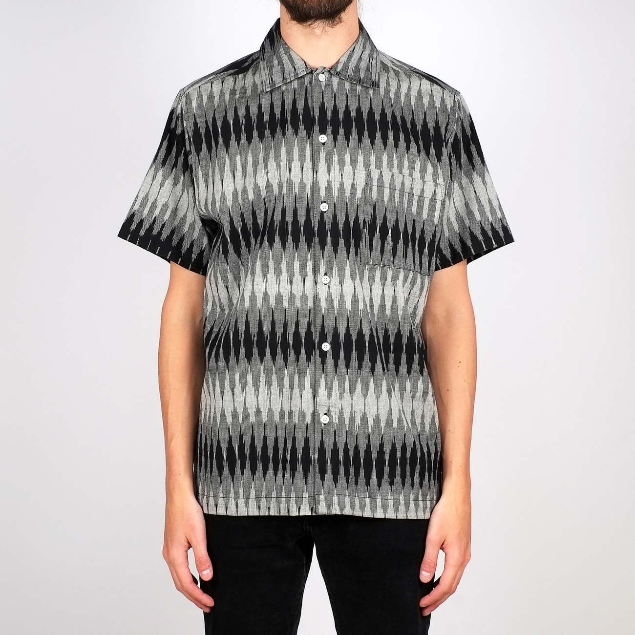 Shirt Short Sleeve Marstrand Handloom Fade Diamond