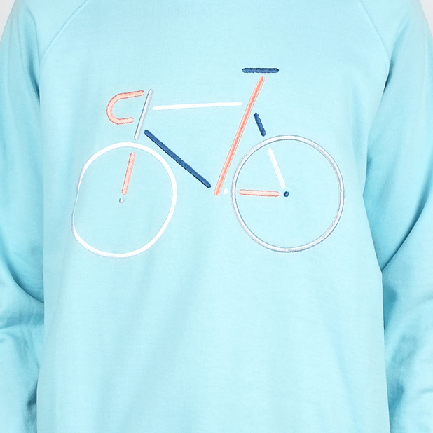 Sweatshirt Malmoe Color Bike Embroidery Beach Blue