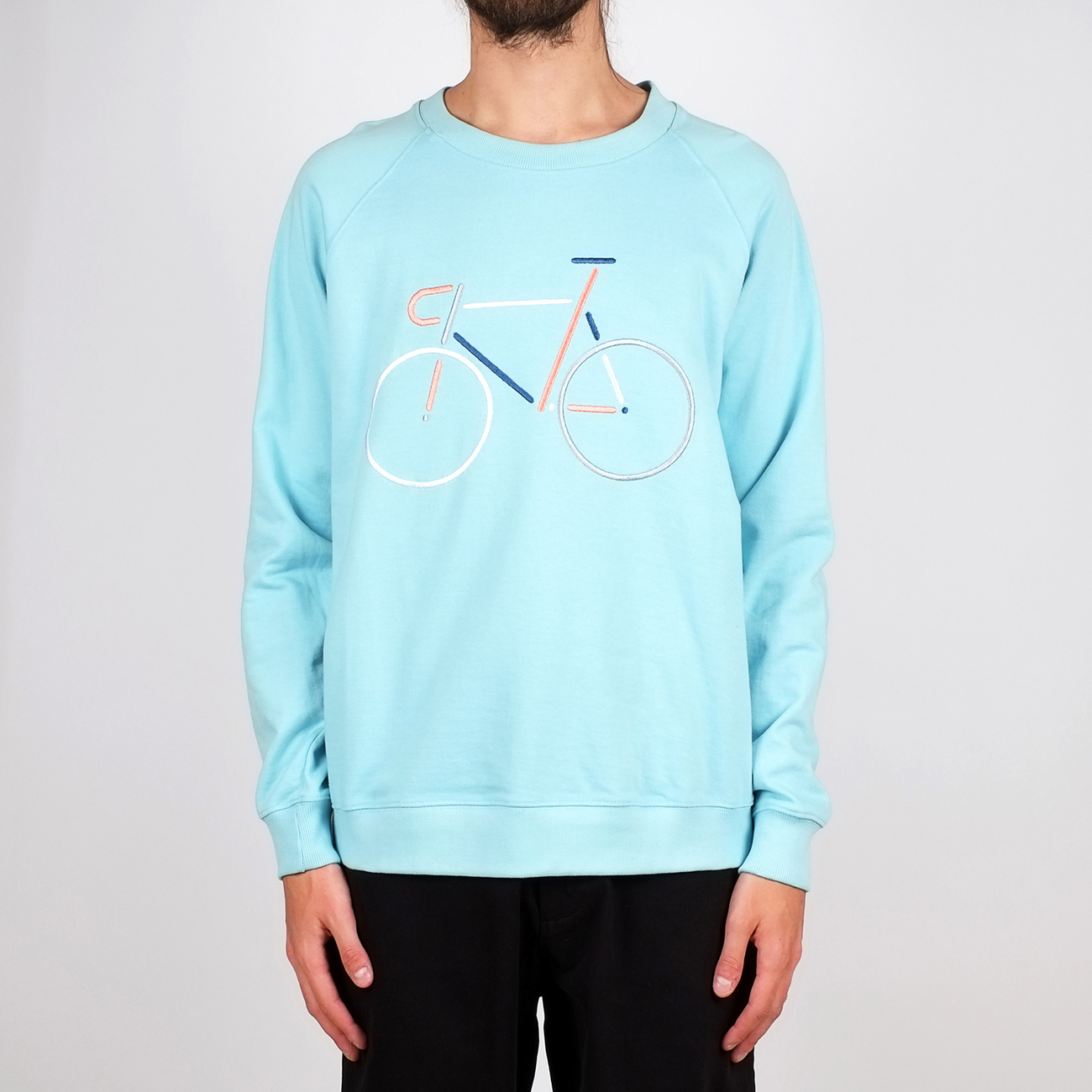 Sweatshirt Malmoe Color Bike Embroidery Beach Blue
