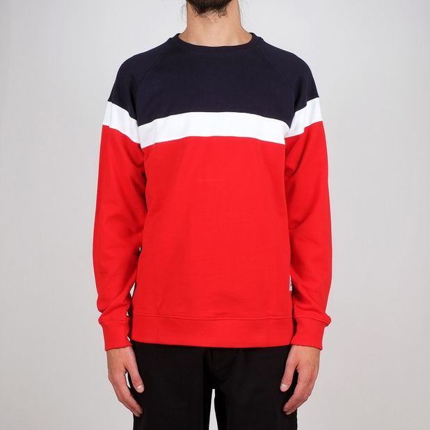 Sweatshirt Malmoe Stripe Red