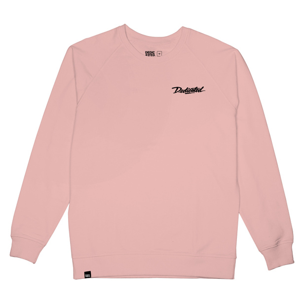 Sweatshirt Malmoe Dedicated Script Mellow Pink