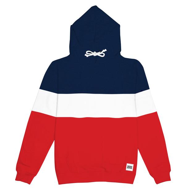 Hoodie Falun Stripe Red