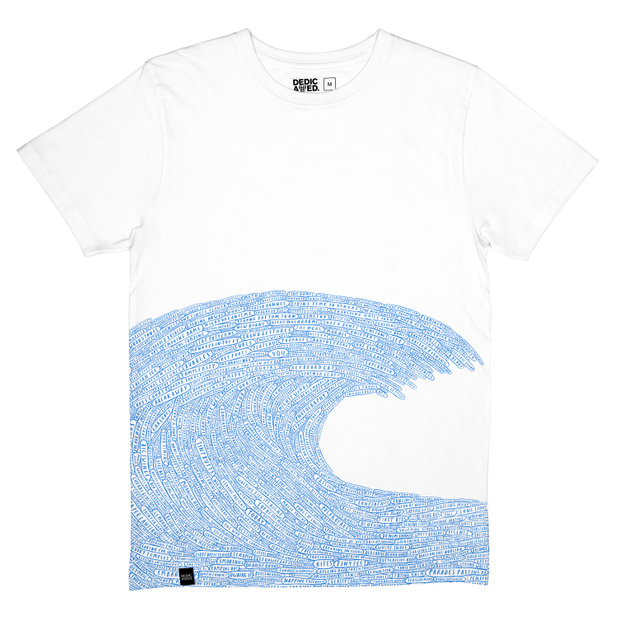T-shirt Stockholm Word Wave