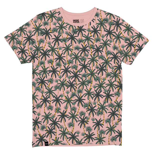T-shirt Stockholm Beach Palms Mellow Pink
