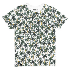T-shirt Stockholm Beach Palms White
