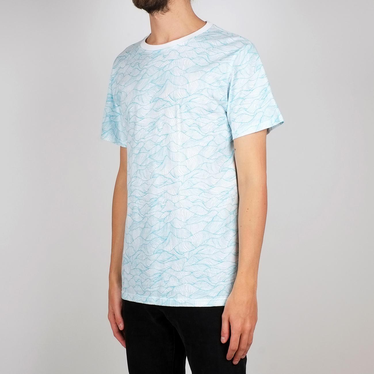 T-shirt Stockholm Ink Waves White