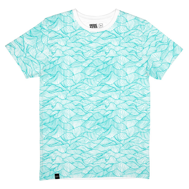 T-shirt Stockholm Ink Waves White