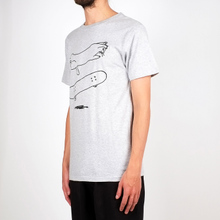 T-shirt Stockholm Cat Flip Grey Melange