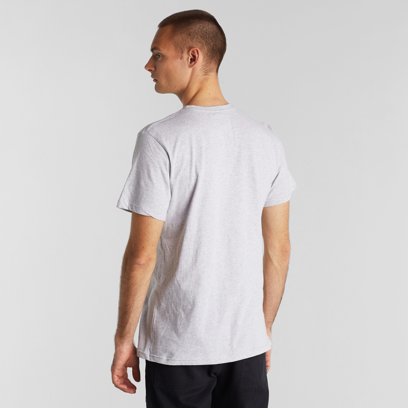 T-shirt Stockholm Cat Flip Grey Melange