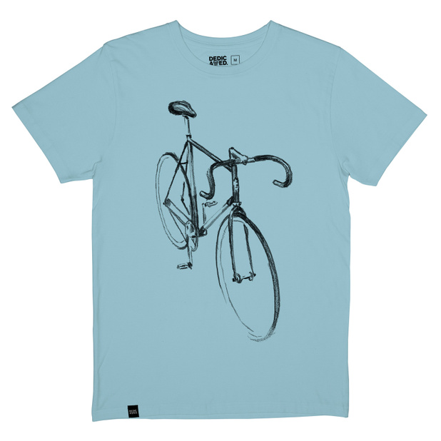 T-shirt Stockholm Drawn Bike Beach Blue