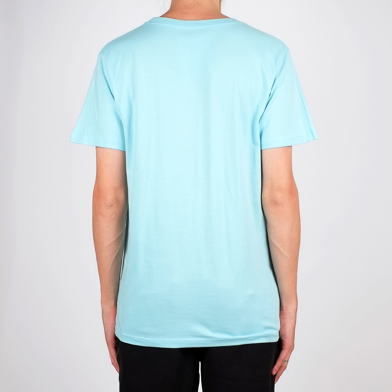 T-shirt Stockholm Drawn Bike Beach Blue