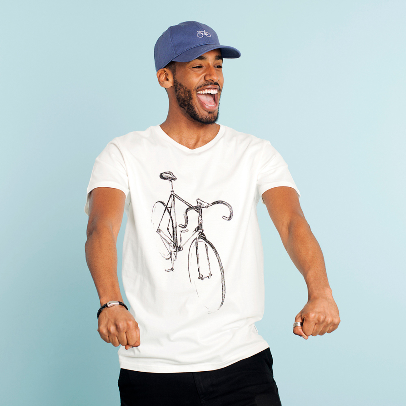 T-shirt Stockholm Drawn Bike Off-White