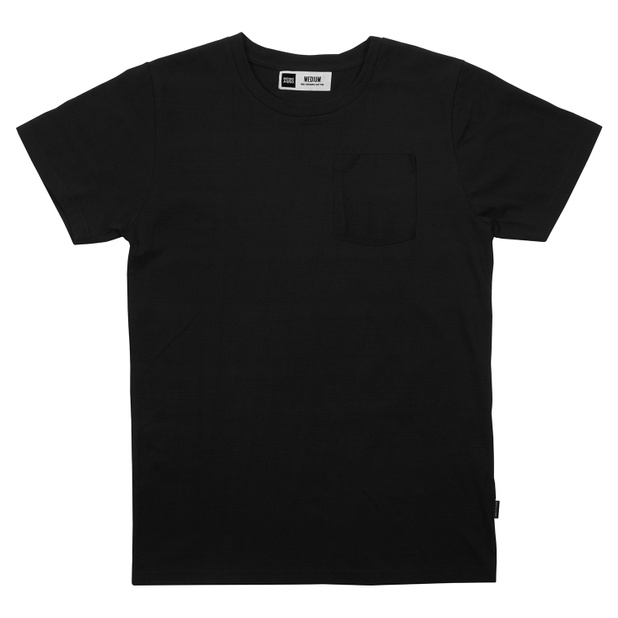 T-shirt Stockholm Full Jacquard Black