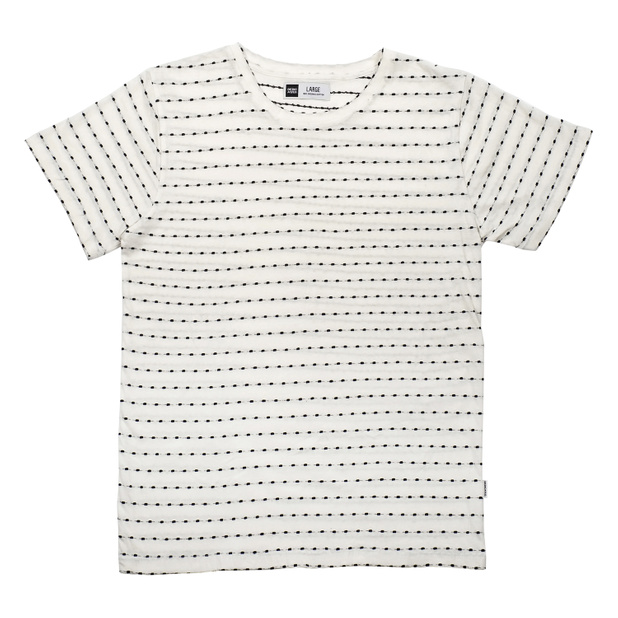 T-shirt Stockholm Stripe Dots Off-White